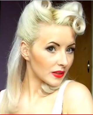 Complete Vintage Pinup Makeup and Hairstyle Makeover - 1940\'s ...